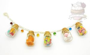 Sweet treats candy shop bracelet by ilikeshiniesfakery