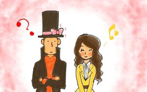 Layton And Emmy by Sakudrew