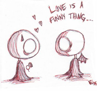 Love is a funny thing... by darkartist13