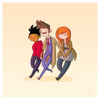 Adventure Time and Space! Tenth Doctor by Blizarro