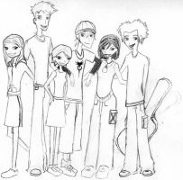 The 6teen Characters by vladfudrucker