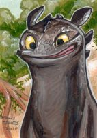 Toothless by danidraws