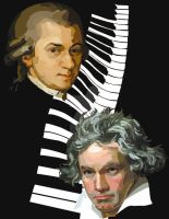 Mozart and Beethoven by MofoOnCrack