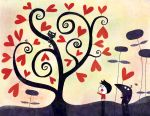 The little tree of hearts by nicolas-gouny-art