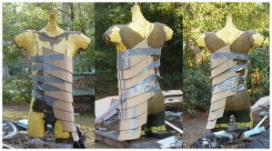 armor, mine, cardboard mockup of torso lames by demosthenes1blackops