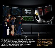 Outtakes VI GLaDOS 'n Wargames by lia-a-eastwood