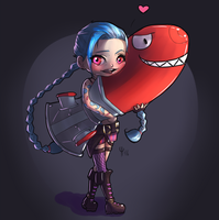 [FANART] Jinx loves it. by EmiroArts