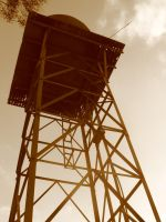 tower in sepia by MAKANUT