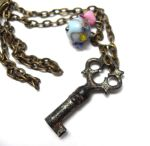 Antique Key Snow White Necklace by sojourncuriosities