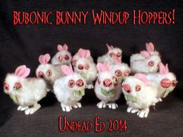 Bubonic Bunny Windup Hoppers by Undead Ed 1 by Undead-Art
