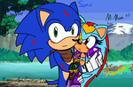Sonic protecting Starlight by 1sonadowforever123
