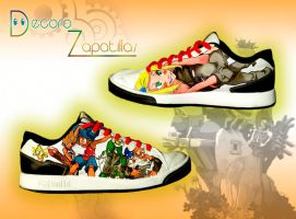 Wakfu custom shoes by Raw-J