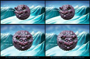 Chocomonster stereogram by Sirielle