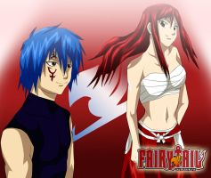 Fairy Tail Jellal Fernandes Erza Pairing Gerza by Mr123GOKU123