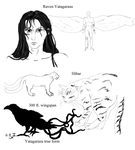 The Raven's War Character Designs by KittyNocturna