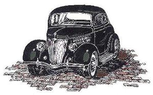 1936 Ford Coupe by zekesgraphics