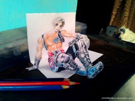 Vaan (Final Fantasy XII) - 3D Color Pencil Drawing by Ankredible