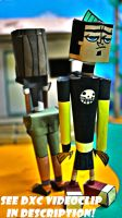 Duncan and Courtney from Total Drama Paper Toys by ViluVector