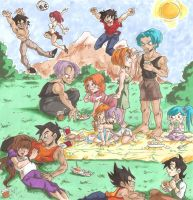 Commish: Brief Family Picnic by Swamnanthas