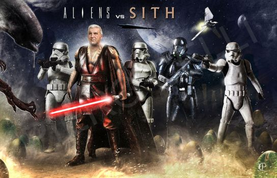 My crossover about Alien/Star Wars by pierolucca