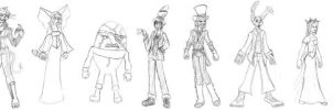 Wonderland Character Line up by Valor1387