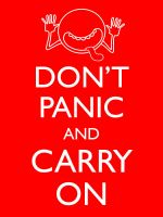 Don't Panic and Carry On by Kitschensyngk