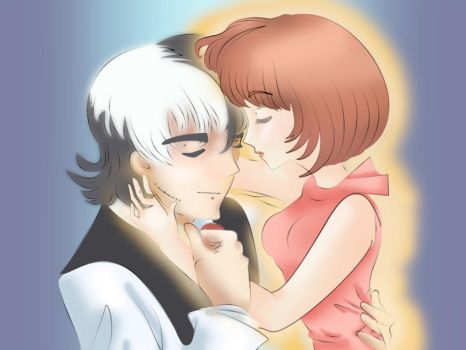 Black Jack and Pinoko by asthermaiden