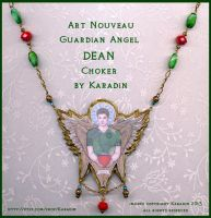 Art Nouveau Guardian Angel Dean Choker by karadin