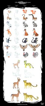Little animals through the years 2003 - 2017 by FennecSilvestre