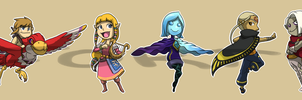 Stickers: LoZ: Skyward Sword by forte-girl7