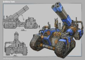 Artillery Tank by RobbieMcSweeney