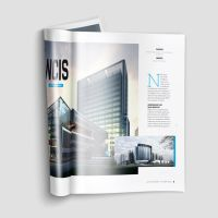 A4 Brochure Magazine Mock-Up by calwincalwin