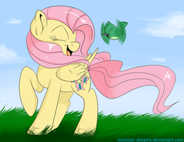 Fluttershy and Hummingway by Lustrous-Dreams