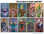 Guess My Favorite Characters by YuliaPW