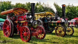 Steam parade in Duncombe Park - Yorkshire by pingallery