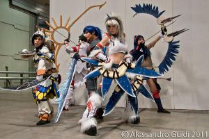 Monster hunter cosplay ladies by HeavenAndSky