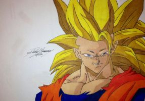 Super Saiyan 3 Goku!! by gokujr96