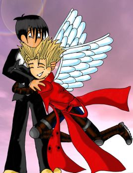 Vash why doyou have angelwings by jonouchi