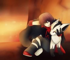 .:Chilling out in the Magma Base with Mightyena:. by SerryBlueSoul