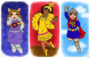 Sesame Street Muppet Costumes by MuseWhimsy