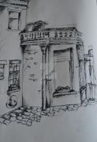 sketch of building by rangerswood