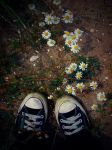 Staring at my feet. by outrageouslyweird-me