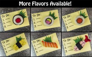 New Sushi Designs and Magnets - Available by AlwaysSuagarCoated