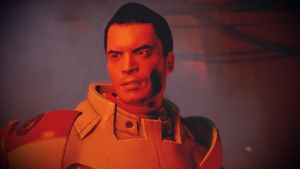 Kaidan Alenko on the Normandy - Mass Effect 2 by loraine95