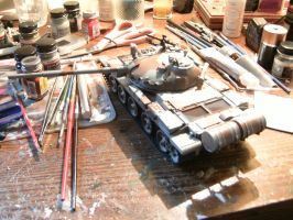 Tamiya 1/35 T-62 Progress report 3.1 by DelosQAndrews