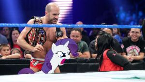 Tony Cesaro and Rarity Confronts Aksana by RicRobinCagnaan
