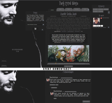 Jensen Ackles (Layout) by hanchesteria