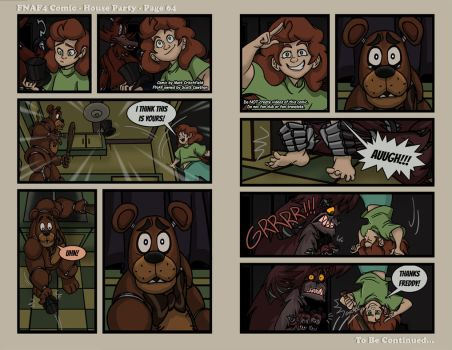 FNAF4 Comic - House Party - Page 64 - 4-20-17 by Mattartist25