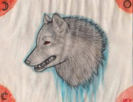 Wolf Watercolor (feat. buckling paper) by FloydFangirl
