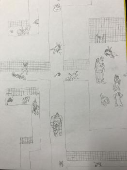 Group scattered doodle + story by Ihsan997